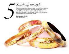 Stacking bangles