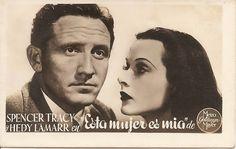 La Trastienda Antigua: Foto antigua Spencer Tracy y Hedy Lamarr