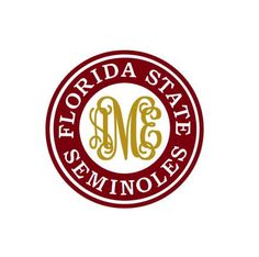 This Florida State Seminoles Monogram template is an instant DIGITAL DOWNLOAD file to be cut out with an electronic cutting machine that accepts one