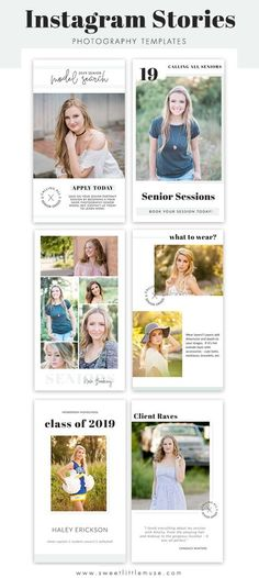 Manage your social media content easily and create a cohesive feed with  these professionally designed Instagram Stories Templates Photography Templates, Photography Pricing, Photography Marketing, Senior Photography, Photography Business, Photography Ideas, Social Media Content, Social Media Tips, Social Media Marketing