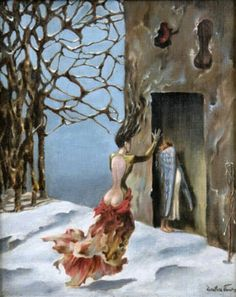'Moeurs Espagnoles', Dorothea Tanning,  oil on canvas, 1943.