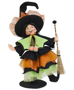 Annalee Collectible Figurine, Halloween Witch - Holiday Lane - Macy's