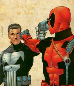 The Punisher and Deadpool by Steve Dillon