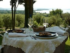 View of the Trasimeno Lake, Umbria from the Restaurant