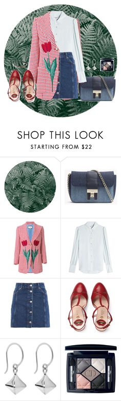 """tulip"" by asmallant ❤ liked on Polyvore featuring Gucci, Frame, Topshop, Dinny Hall, Christian Dior and Riah Fashion"