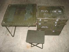 Vintage Military Field Desk US GI Issue. Boys room