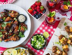 Summer DIY Challenge with The Home Depot // The Build • Brittany Stager Grilled Chicken Drumsticks, Spicy Grilled Chicken, Pinic Table, Canada Day Party, Bbq Menu, Orzo Soup, Italian Meatballs, Lemon Cheesecake, Backyard Bbq