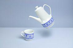 Vintage pot and cup from Poland made by Chodziez  www.facebook.com/rzeczystarenowe