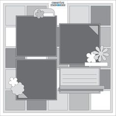 Weekly Sketch Round-Up April - Scrapbooking Scrapbook Layout Sketches, Digital Scrapbooking Layouts, Scrapbook Templates, Wedding Scrapbook, Scrapbook Supplies, Scrapbook Cards, Scrapbook Organization, Picture Layouts, Creative Memories