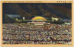 Night scene, Hollywood Bowl, Hollywood, California   by Boston Public Library
