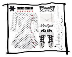 """""""Off The Shoulder Polka Dot Peplum Top"""" by igiulia on Polyvore featuring Stella Luna, Jimmy Choo, Cyrus, ASOS and vintage"""