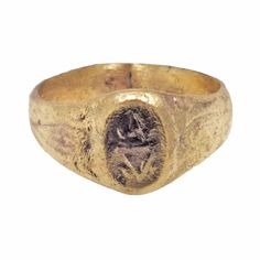 Late Medieval Europeans Mens Signet Pinky Ring by PicardiJewelers, $185.00