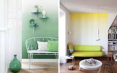渐变色彩的墙面,艺术墙面处理 让墙作画