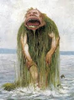 Norwegian See Troll, by Theodore Kittelsen (public domain) Known as Tangy in Orkney Islands.