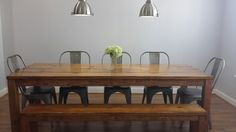 8ft James+James Parsons Table in solid-wood, built by hand in the U.S. $780