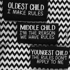 Oldest Child, Middle Child, Youngest Child Youngest Child Syndrome, Middle Child Syndrome, Sibling Quotes, Sibling Memes, Most Hilarious Memes, Funny Stuff, Funny Memes, Birth Order