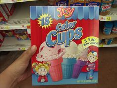 Colorful ice-cream cups.