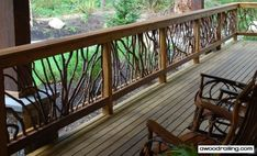 How 'bout as a Front Porch Railing to match interior section above the 1/2 Entry Wall?