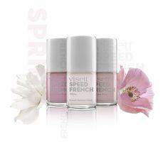 Gewinne 1 von 5 visett Beauty Easter Sets (visett Speed French Manicure Set und Wimpernshampoo).  visett Speed French Nails Set Er ist ein Klassiker, der beliebte French-Look, der Nägel natürlich schön und perfekt