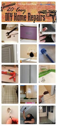 20 Easy DIY Home Repairs - clever & inexpensive solutions for these annoying household problems!