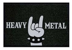 El felpudo perfecto para los más metaleros. Heavy Metal, Company Logo, Peace, Coir, The Originals, Home, Heavy Metal Music, Sobriety, World