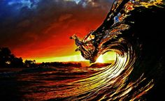 wave sunset - Google Search