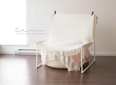 DIY Newborn Photography PVC Blanket stand