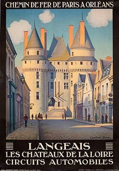 Vintage French Travel Poster, Poster Classics of France, French Travel Posters Vintage Advertisements, Vintage Ads, Vintage Images, Vintage Artwork, Tourism Poster, Railway Posters, Travel Cards, Advertising Poster, Vintage Travel Posters