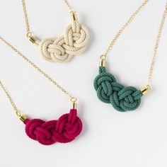 Knotted Cord Necklace Kit | Brit + Co. Shop | DIY Online classes, DIY kits and creative products from makers you'll love.