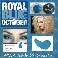 Splurge Cream Shadow in Fickle #KC #Royals #Blueoctober