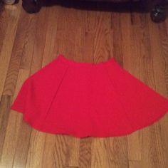 Red skater skirt Red