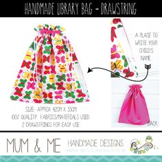 Library bag, Libraries and Handmade on Pinterest