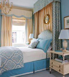 Dillards Bedroom Furniture Blue And Gold Bedroom Rc Willey Bedroom Sets Pictures Of Bedroom Designs - Bedroom design ideas Blue And Gold Bedroom, Blue Bedrooms, Blue Gold, Master Bedrooms, Blue Ivory, Interior Exterior, Interior Design, Interior Livingroom, Bedroom Windows