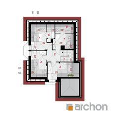 Projekt domu Dom w rukoli 4 - ARCHON+ Plane, House Plans, Floor Plans, How To Plan, Home, American Houses, Planters, Home Plans, Ad Home