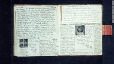 ❤ =^..^= ❤ Pages with text and photos from Anne Frank's diary, written in October 1942.