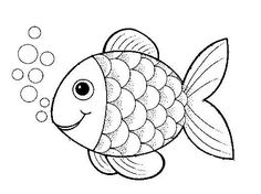Preschool Rainbow Fish Coloring Sheet To Print For Free creative