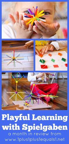 Spielgaben in action!  Hands on learning for Kindergarten homeschool fun!