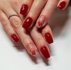 PearLac Classic 401, 190 gél lakkokkal készült körmök Molnár Ritától.  Nails made with PearLac Classic 401, 190 gel polishes made by Rita Molnár. #pearlnails #nails #nailart #nailswag #nailstagram #gelpolish #rednails Nude Nails, Hair And Nails, Nail Designs, Hair Beauty, Nail Art, Nail Ideas, Red, Gorgeous Nails, Ongles