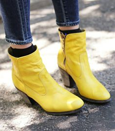 I do love yellow, so why not yellow ankle boots