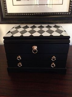Hand Painted Unisex Jewelry Box Harlequin by ColorfulHomeDesigns, $68.00