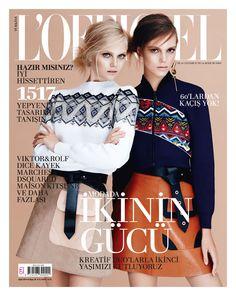 L'Officiel Turkey September 2014 Anne Sophie Monrad & Josefien Rodermans by Emre Guven