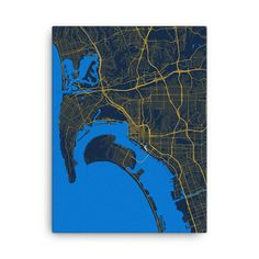 San Diego Chargers Map Canvas