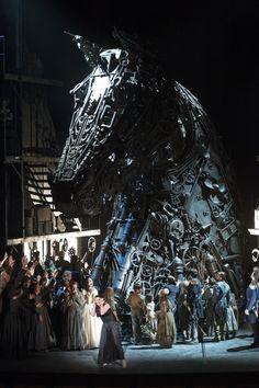 """Trojan Horse in a scene from """"The Trojans by Es Devlin"""