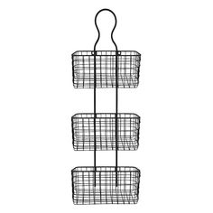Wire Basket 3-Tier Metal Wall Decor, Multicolor