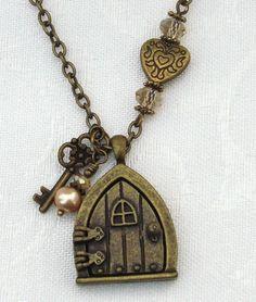 fairy door locket necklace