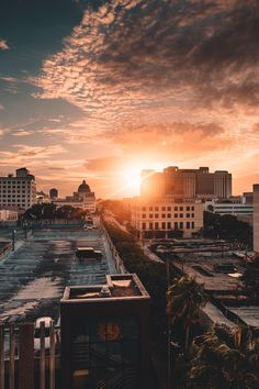 Downtown West Palm Beach Florida Sunset Photography