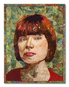 "Portrait in Color, 33"" x 42"", by Grace Errea. Cotton fabric and thread.  Art Quilts Lowell 2009    2009"