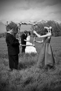 Wedding photos-bride and groom frame