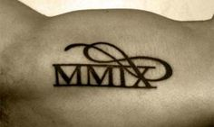 Roman numeral script tattoo.... Would be really cool to get anniversary date done this way!