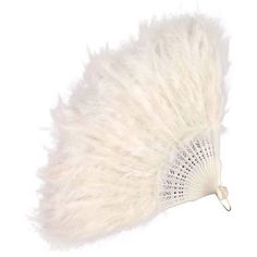 Feather Hand Fan- White (€10) ❤ liked on Polyvore featuring home, home decor, accessories, fans, fillers, 1920, decoration, white home accessories and white home decor